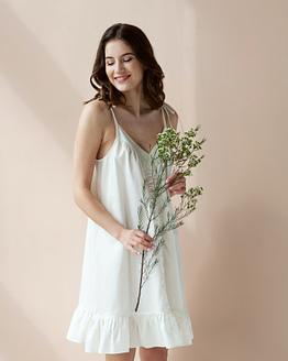 Vintage inspired cotton sateen nightdress Epifania