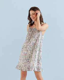 Floral cotton nightdress Epifania