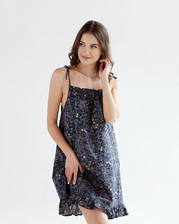 Cotton floral nightdress Epifania