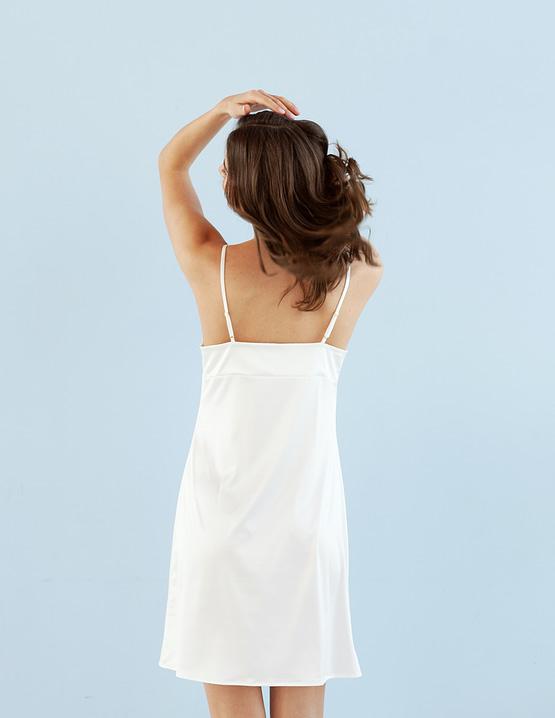 Ivory satin bridal slip